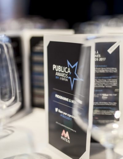 Publica Awards 2017-Bruxelles- détails de la table