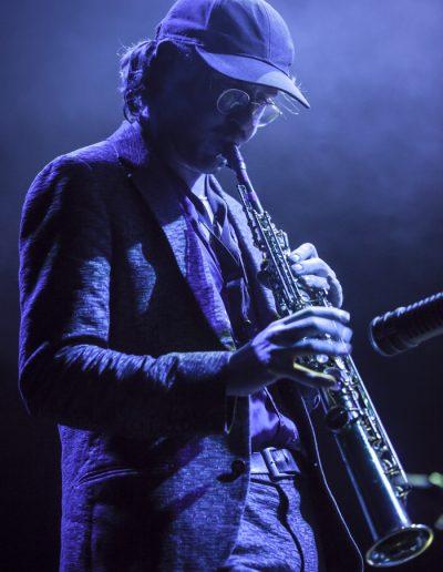 """Photographie événementielle. Belgian Jazz Meeting 2017. Un des musiciens du trio """"Mattias De Craene"""""""
