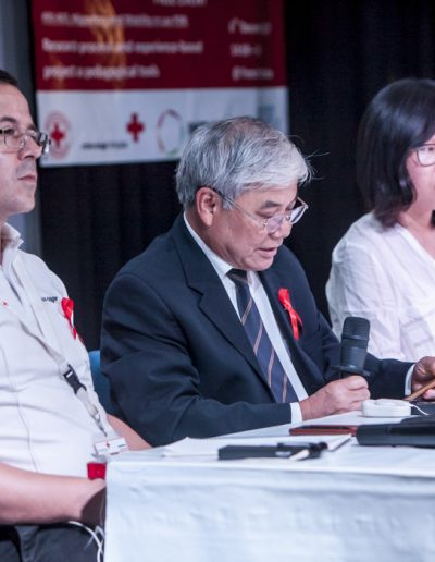 World Aids Day 2017-Vientiane- intervenants à la conférence