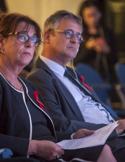 World Aids Day 2017-Vientiane- SE Madame Claudine Ledoux, ambassadrice de France au Laos et SE Monsieur Leo Faber, l'ambassadeur de l'Union Européenne au Laos