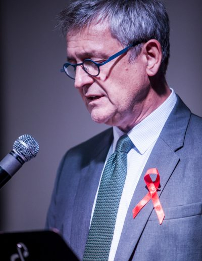 World Aids Day 2017- SE l'ambassadeur de l'Union Européenne au Laos Leo Faber, lord d'une intervention