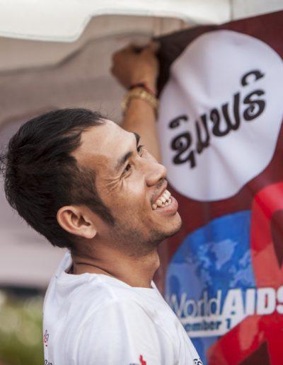 World Aids Day 2017-Vientiane- bénévole au travail