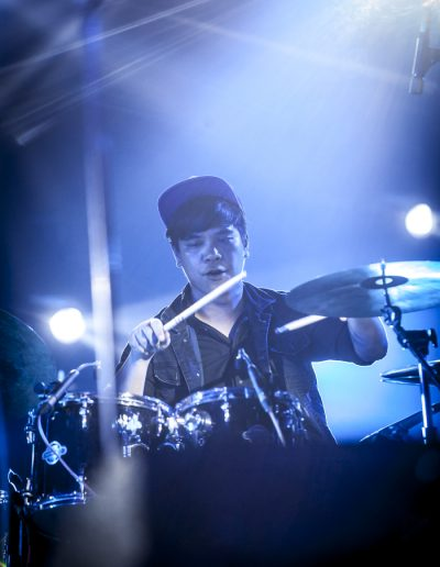 Photographie événementielle. Musicien, batteur, Vientiane, Laos. Avril 2018