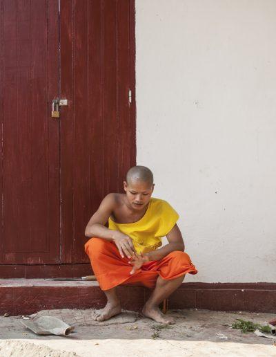 Jeune moine bouddhiste. Laos du nord.