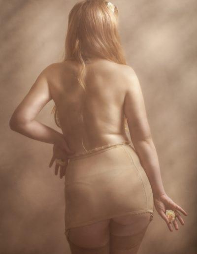 Portrait boudoir-sepia