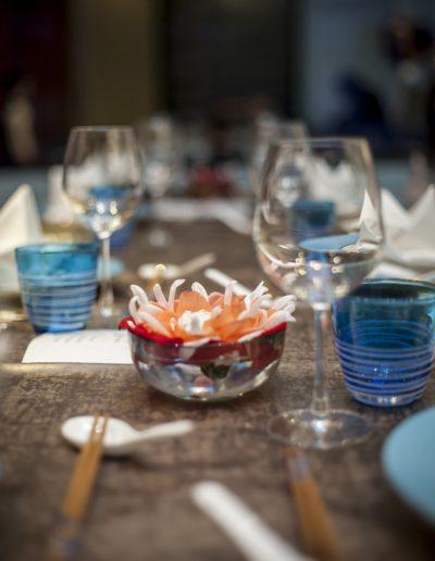 Détail de table dressée. Photographe immobilier, Massimo Municchi