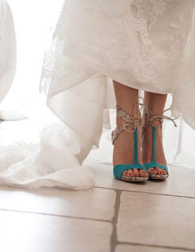 Photo de mariage – détail- Chaussures de la mariée - chaussures de mariage