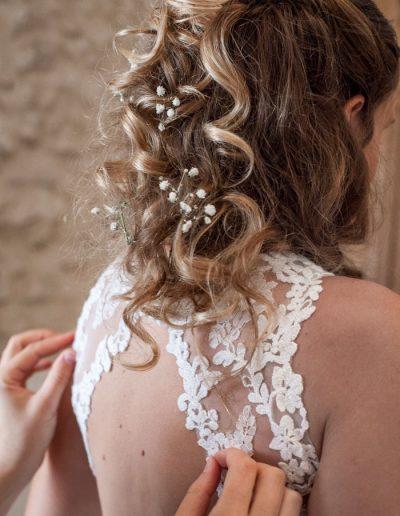 Robe de mariage, détail. Photographie de mariage